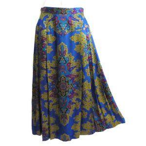 Vintage 80s Skirt Marrakesh Pleated High Waist S